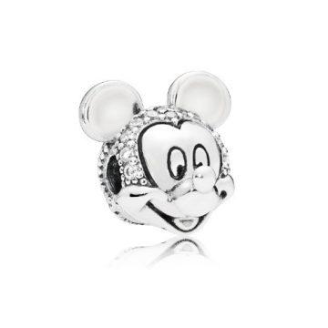 Pandora Disney Csillámló Mickey portré klip 797495CZ