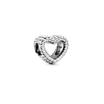 Pandora Gyöngyös szív charm 797516