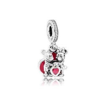 Pandora Disney Szerelmes Mickey és Minnie függő charm 797769CZR