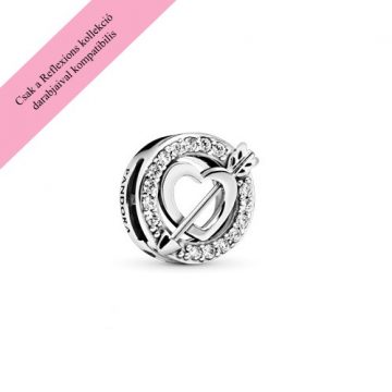 Pandora Reflexions szív és nyíl klip charm 797793CZ