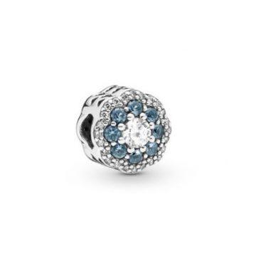Pandora Kék Szikrázó Virág Charm 797851NMB
