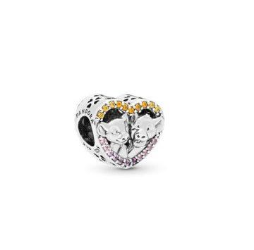 Pandora Disney Oroszlánkirály ragyogó Simba És Nala szív charm 798044NPRMX
