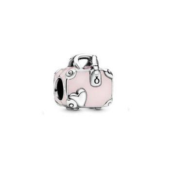 Pandora Rózsaszín bőrönd charm 798063EN124