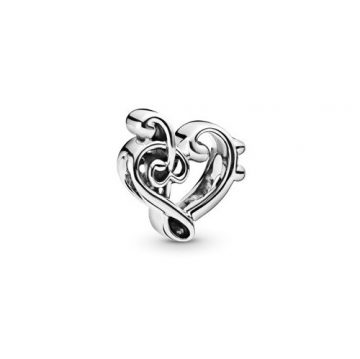 Pandora Szívformájú violinkulcs charm 798346