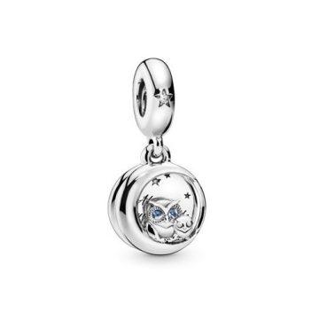 Pandora Mindig Melletted - Bagoly Függő Charm 798398NBCB