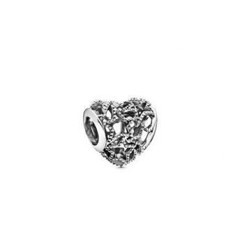 Pandora Áttört szív és csillagok charm 798462C00
