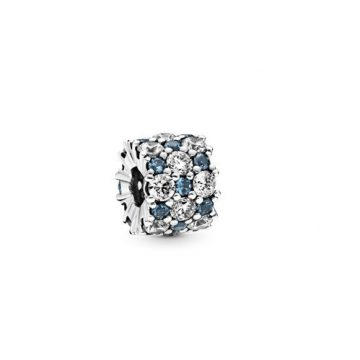 Pandora Kék és áttetsző szikrázó csillogás charm 798487C02