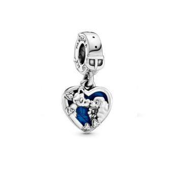 PANDORA Disney Susi és Tekergő szív függő charm 798634C01