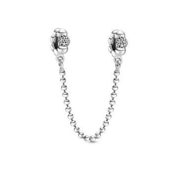 Pandora gyöngyök és pávé biztonsági lánc 798680C01-05