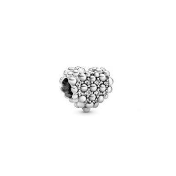 Pandora Gyöngyös szikrázó szív charm 798681C01