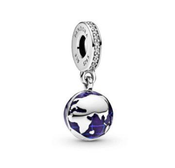 Pandora kék bolygó függő charm 798774C01