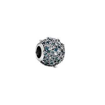 Pandora Zöldeskék pávé százszorszép charm 798797C01