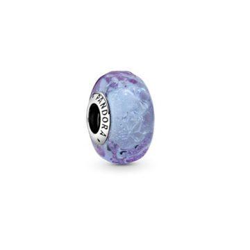Pandora Hullámos levendula muránói üvegcharm 798875C00