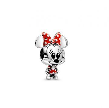PANDORA Disney Minnie Egér pöttyös ruha és masni charm 798880C02