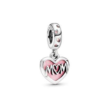 Pandora Anya feliratú szív alakú függő charm 798887C01
