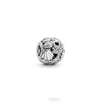 Pandora áttört tengeri csillag,kagyló és szív charm 798950C00