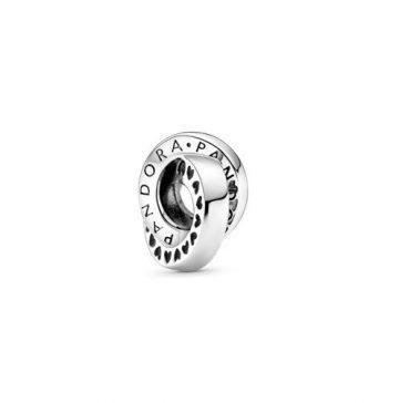 Pandora logó és szív karika spacer 799035C00