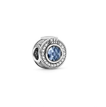 Pandora szikrázó, kék koronás O charm 799058C01