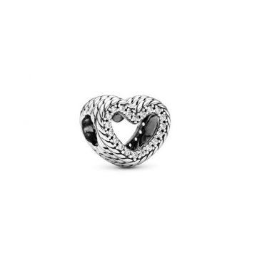 Pandora Kígyólánc mintás nyitott szív charm 799100C01