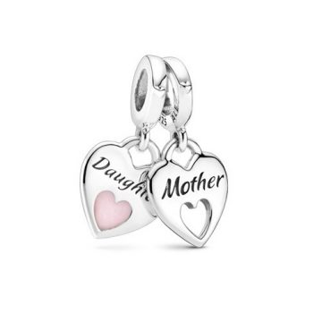 Pandora Dupla szív osztott függő charm 799187C01