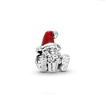 Pandora ülő Mikulás és ajándék charm 799213C01