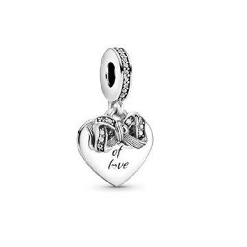 Pandora Masni és szív alakú függő charm 799221C01