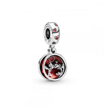 Pandora Disney Mickey Egér és Minnie Egér szerelmes csók függő charm 799298C01