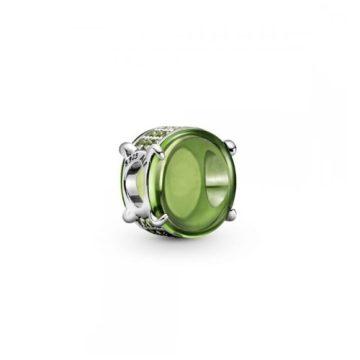Pandora ovális zöld cabochon charm 799309C02
