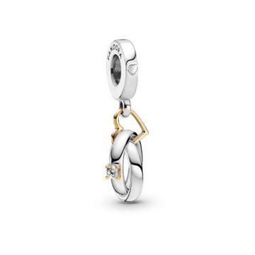 Pandora Kéttónusú jegygyűrű függő charm 799319C01