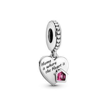 Pandora Imádom az otthonomat szív függő charm 799324C01