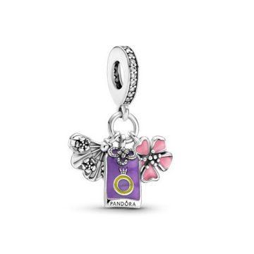 Pandora Japán sakura, omamori és legyező függő charm 799326C01