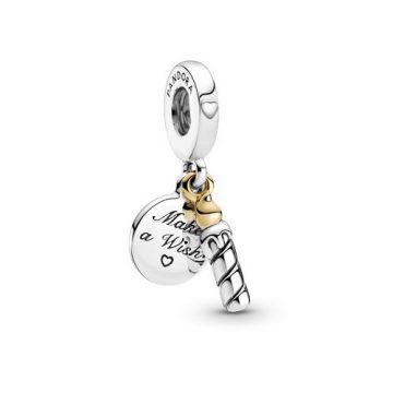 Pandora Kéttónusú születésnapi gyertya függő charm 799328C00