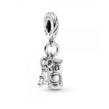 Pandora Disney Alice Csodaországban kulcs és ajtógomb függő charm 799344C00