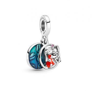 Pandora Disney Lilo és Stitch családi függő charm 799383C01