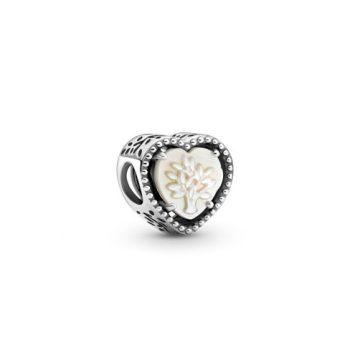 Pandora Áttört szív és családfa charm 799413C01