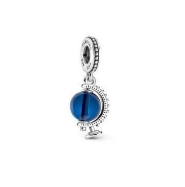 Pandora kék földgömb függő charm 799430C01