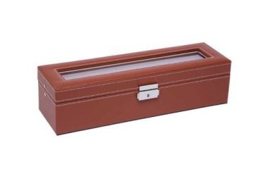 Világos barna varrott óratartó doboz 6 órának 925