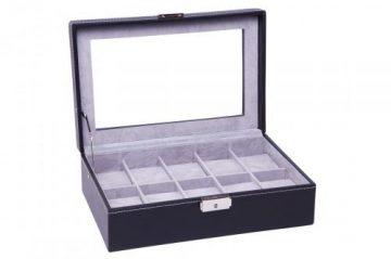 Fekete Varott óratartó doboz 10 órának