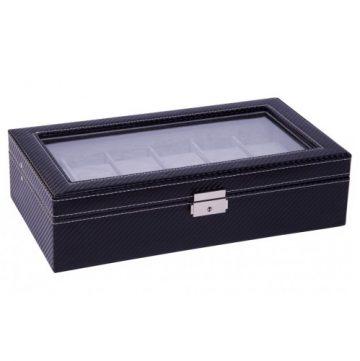 Karbon fekete varrott óratartó doboz 12 órának 930