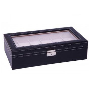 Fekete varrott óratartó doboz 12 órának 933
