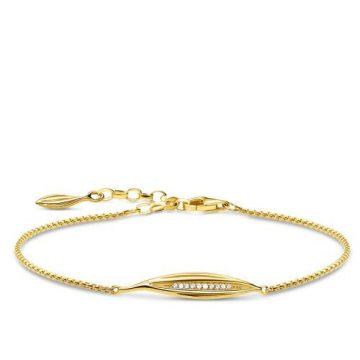 "Thomas Sabo ""leaf gold"" karlánc A1935-414-14"