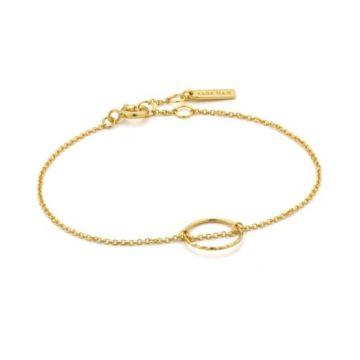 Ania Haie Twist Chain Circle Karkötő B007-02G