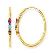 "Thomas Sabo ""Royalty colourful stones"" karika fülbevaló CR633-973-7"