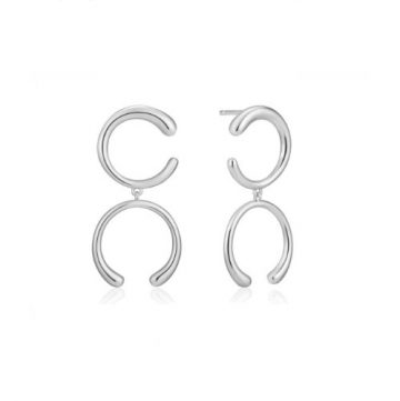 Ania Haie Luxe Double Curve fülbevaló E024-01H