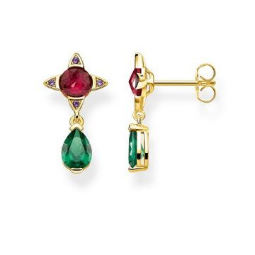 """Thomas Sabo """"green drop with red stone"""" fülbevaló H2073-973-7"""