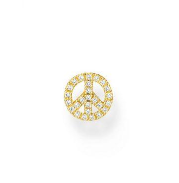 """Thomas Sabo """"gold peace"""" fél pár fülbevaló H2218-414-14"""