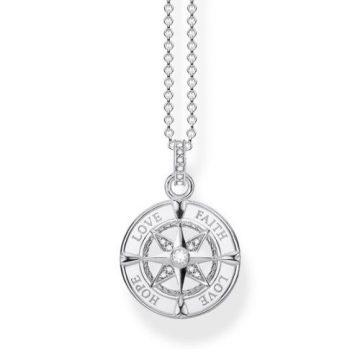"""Thomas Sabo """"Compass Faith, Love, Hope"""" Nyaklánc KE1849-051-14"""