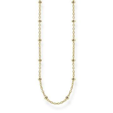 """Thomas Sabo """"round belcher chain"""" aranyozott nyaklánc KE1890-413-39"""