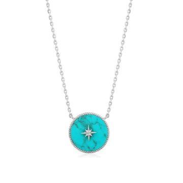Ania Haie Turquoise Emblem nyaklánc N022-02H