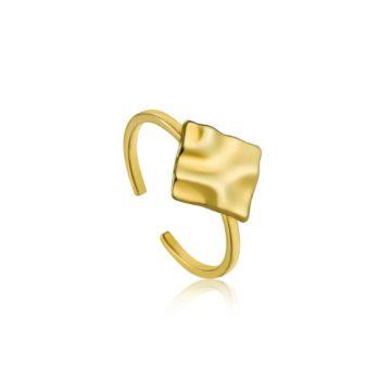 Ania Haie Crush Square Adjustable gyűrű R017-02G